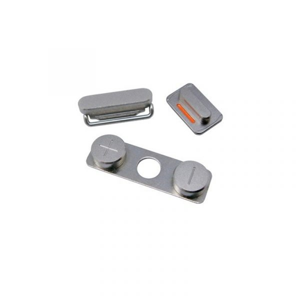 iPhone 5S, SE Volume, Vibrator & Power Button Set - Silver