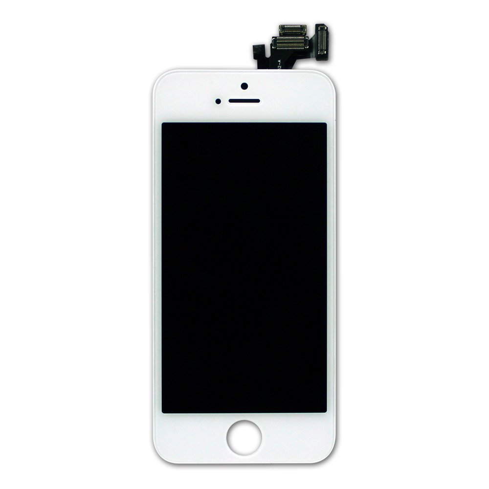iPhone 5S & SE LCD Screen and Digitizer - White - SE Preassembled