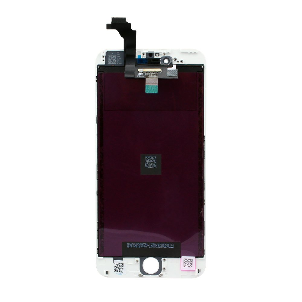 iPhone 6 Plus LCD Screen and Digitizer - White - Preassembled
