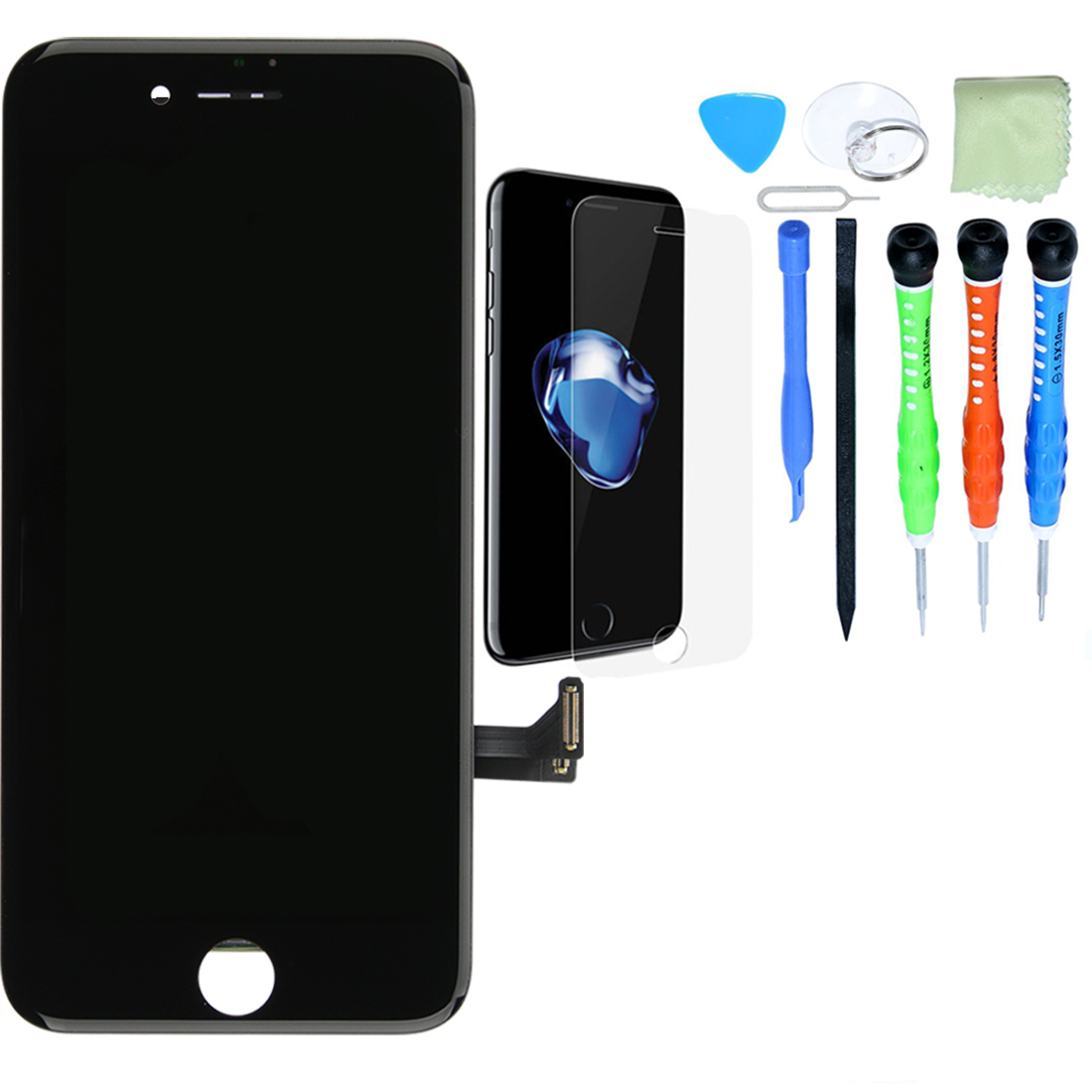 iPhone LCD Screen and Digitizer Repair Kits - iPhone 7 Plus - Black